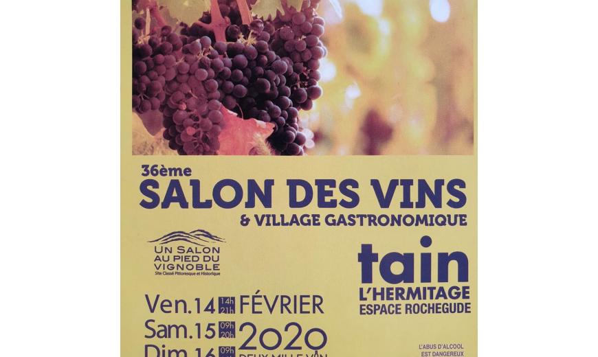 Salon des Vins du 14 au 16 Février 2020 à Tain L' Hermitage